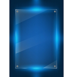 Blue digital background and glass panels vector