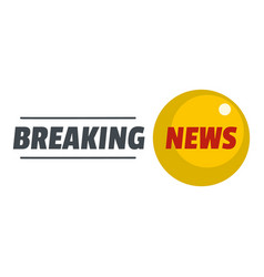 Breaking news icon flat style vector