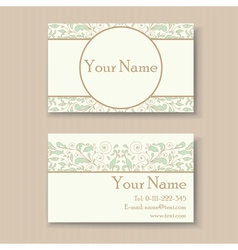 Business card with floral ornament vector