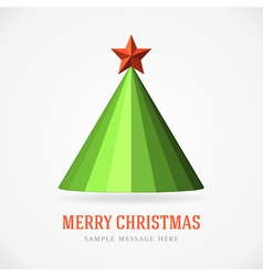 Christmas tree and star background vector image vector image