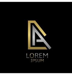 Da letters logo vector