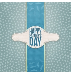 Fathers Day realistic Emblem with Text and Ribbon vector image