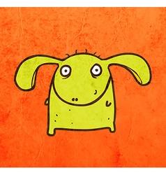 Happy monster cartoon vector