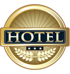 Hotel gold icon vector