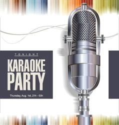 Karaoke background vector
