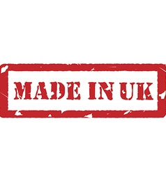 Made in uk vector image