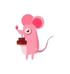 Mouse party animal icon vector