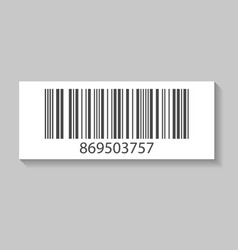 realistic store barcode isolated icon vector image