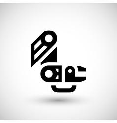 Robotic arm icon vector