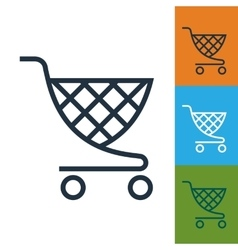 Shopping cart icon Trolley isolated vector image vector image