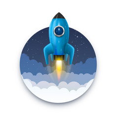 space rocket launch startup creative idea rocket vector image vector image