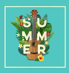 summer typography vector image