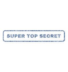 Super top secret textile stamp vector