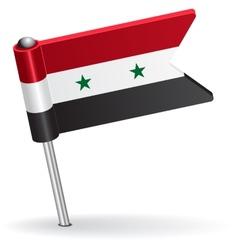 Syria pin icon flag vector image vector image