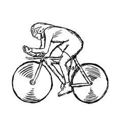track cycling - sketch hand drawn vector image