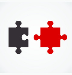 two puzzle concept vector image vector image