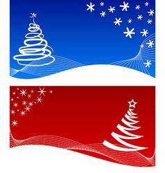 Winter backgrounds vector image