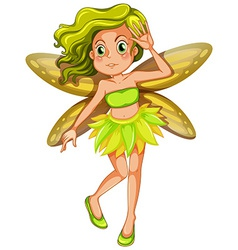 Yellow fairy vector image