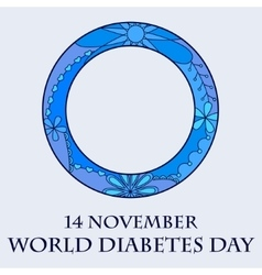 World diabetes day background vector image