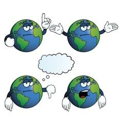 Bored Earth globe set vector image
