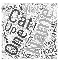 Naming your cat word cloud concept vector
