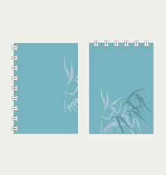 Branches and bamboo leaves vector