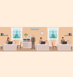 Realistic characters of business employee and vector