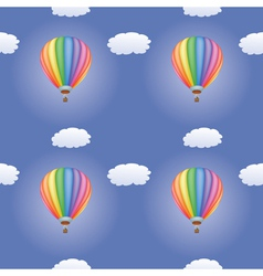 Pattern with hot air balloons vector