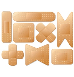 Medical plasters vector