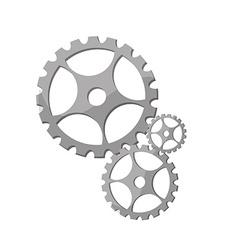 Silver gears vector