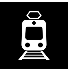 The train icon Metro and tram railroad symbol vector image