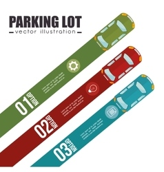 Parking lot design vector