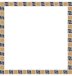 Simple geometric ethnic frame variation 3 vector