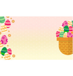 Art of easter theme greeting vector