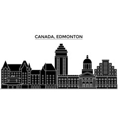 Canada edmonton architecture city skyline vector