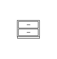 Chest of drawers icon vector