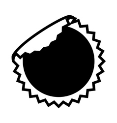 Circle sticker icon vector