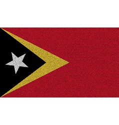 Flags East Timor on denim texture vector image vector image