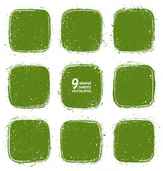 Grunge retro green shapes vector image