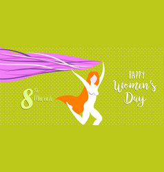 Happy international womens day celebration banner vector