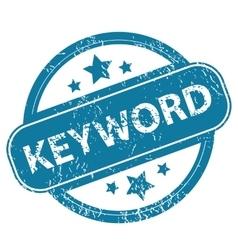 Keyword round stamp vector
