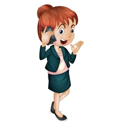 Lady talking on phone vector image vector image