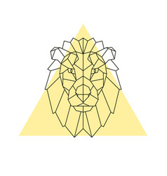 Lion head geometric style vector