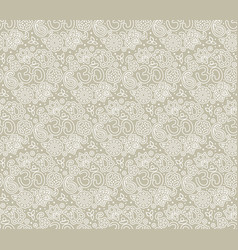 om seamless pattern vector image vector image