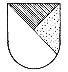 Per bend ordinary has the dexter half in argent vector