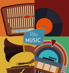 Retro design vector image