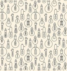 Seamless pattern made of linear light bulbs vector