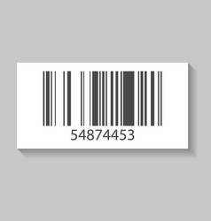 Supermarket barcode isolated icon vector