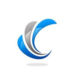 swirl finance business logo vector image