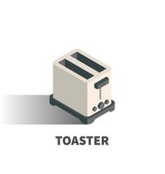 toaster icon symbol vector image